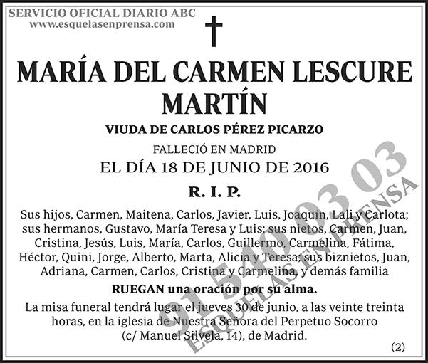 María del Carmen Lescure Martín